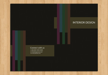 Bifold Brochure Layout with Dark Background 2