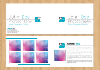Grid Style Photography Brochure Layout 3