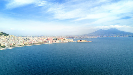 Beautiful landscape of Naples, Italy.