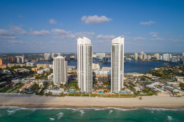 Hotel towers in Sunny Isles Beach, Florida