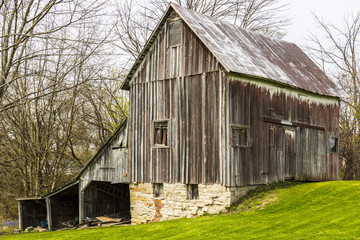 Small Abandoned Wooden Weathered Barn in the Country I