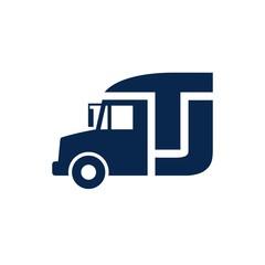 truck logo vector.