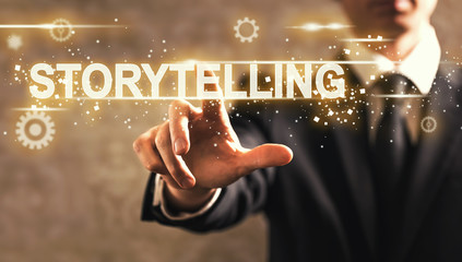StoryTelling text with businessman