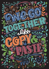 Hand drawn poster with funny quotes. Creative Vector Typography