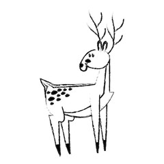 cute deer icon image vector illustration design