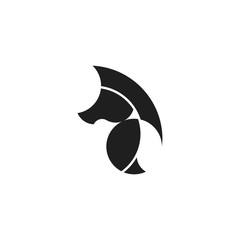 Golden Ratio Horse Logo. Isolated on White Background.