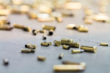 Spent shell casings.
