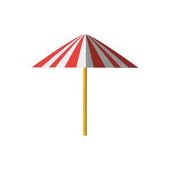 umbrella equipment picnic shadow vector illustration eps 10
