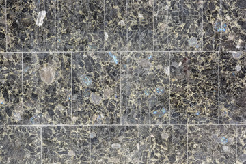 Close up grey granite tiles
