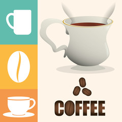coffee cup poster cup beverage vector illustration eps 10