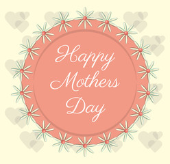 happy mothers day flowers decoration label vector illustration eps 10