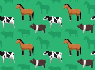 Livestock Farm Animals Seamless Wallpaper 4
