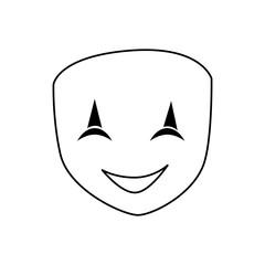 theatre mask smiling icon vector illustration graphic design
