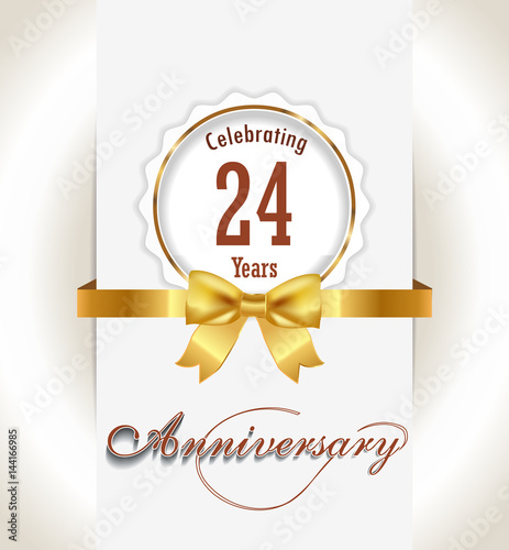 25th Anniversary Background 25 Years Celebration Invitation Card