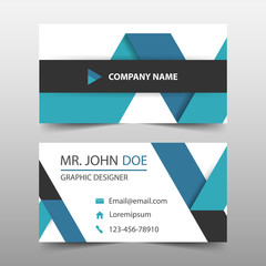 Blue ribbon corporate business card, name card template ,horizontal simple clean layout design template , Business banner template for website