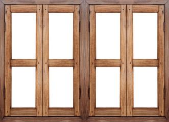 Wood windows.