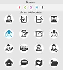 accaunt icon set