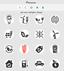alternative energy icon set