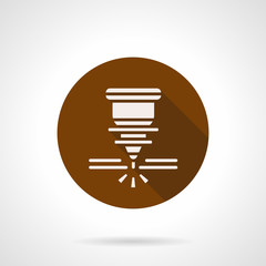 Automatic welding laser brown round vector icon