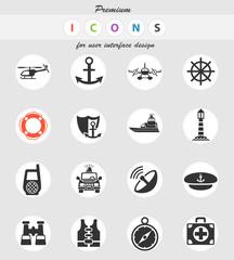 coastguard icon set