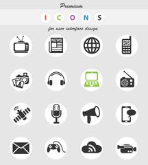 media icon set