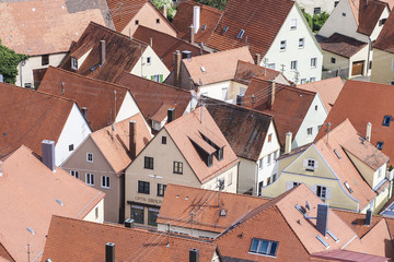 The roofs of Nordlingen Bavaria Southern Germany Europe