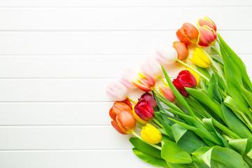 Bunch of tulip flowers.