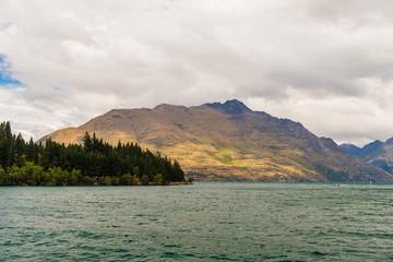 Lake Wakatipu in Queenstown, New Zealand.