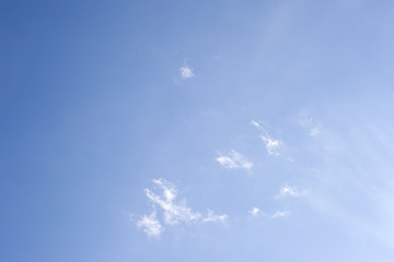 Blue sky, abstract background with tiny clouds