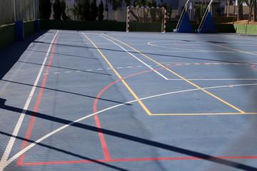 Spielfeld für Basketball, Fussball und andere Ballspiele
