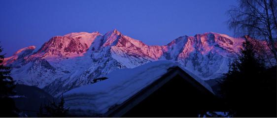 Mont Blanc au soleil couchant