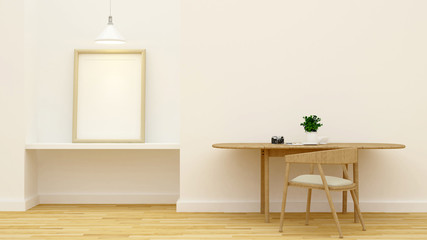 workspace and studio picture - 3D Rendering