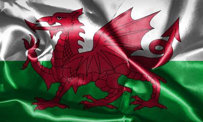 Wales National Flag Grunge Looking 3D illustration
