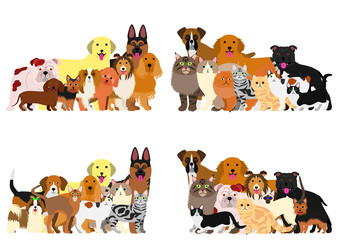 dogs and cast group border set