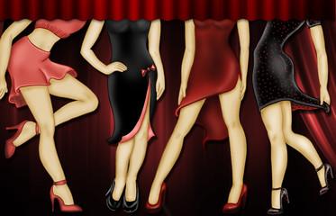 mujeres discoteca