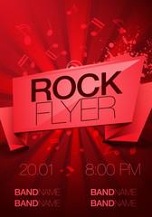 vector rock festival flyer design template for party
