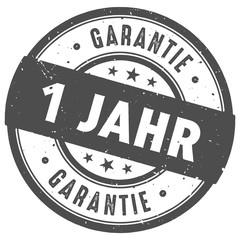 Runder 1 Jahr Garantie  Stempel