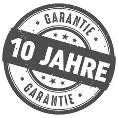 Runder 10 Jahre Garantie  Stempel