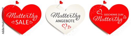 93e02c2dc65ac Herzförmige Zettel mit Pins - Set Muttertag Angebote