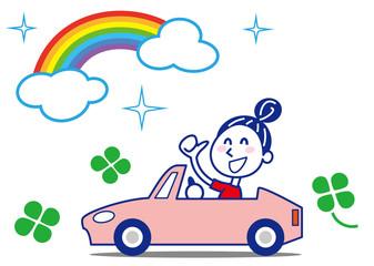 輝く虹 幸せドライブお姉さん