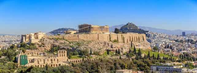 Printed kitchen splashbacks Athens View to Athens city scape with Acropolis