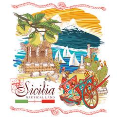 Sicily nautical land