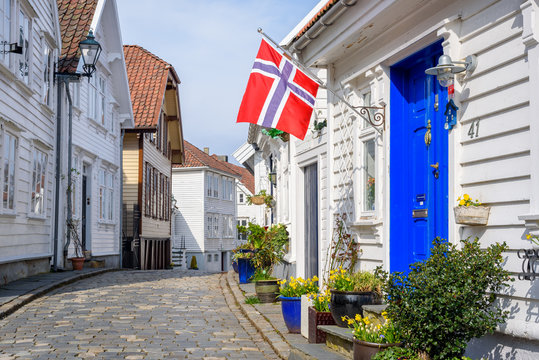 Streets and buildings of Old Stavanger