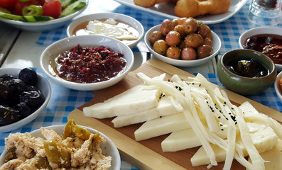 Breakfast- traditional Turkish breakfast