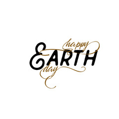 lettering and calligraphy modern - Earth day to you. Sticker, stamp, logo - hand made