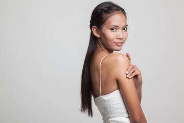 Happy Beautiful young Asian woman.