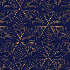 vector pattern, repeating grunge line of abstract flower or leaves. pattern is on swatches panel