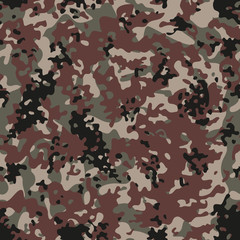 Multiterrain Flectarn Camouflage seamless patterns. Vector Illustration.