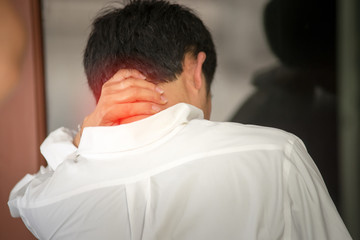 Men with neck pain from office