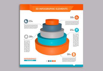 Tricolor 3D Infographic 2